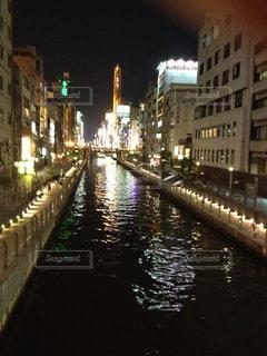 大阪道頓堀夜景の写真・画像素材[754092]