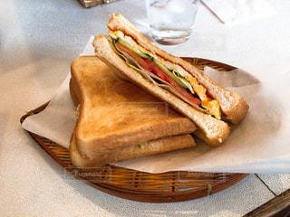 喫茶店のサンドイッチの写真・画像素材[1885816]