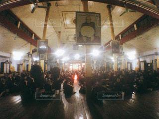 ミャンマーのチャッカワイン僧院の朝礼の写真・画像素材[1885916]