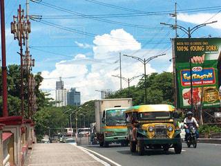 フィリピンのマニラの道路の写真・画像素材[1886066]