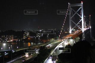 夜の高速道路の写真・画像素材[736217]