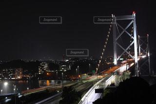 夜の高速道路の写真・画像素材[736218]