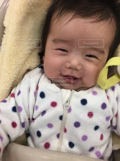 にこにこ赤ちゃんの写真・画像素材[2504164]