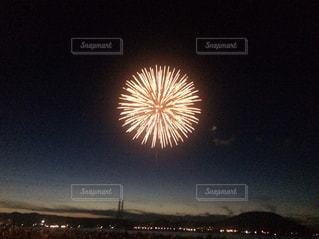 夜空の花火の写真・画像素材[708964]