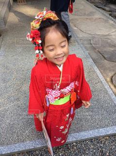 3歳娘の七五三の写真・画像素材[847277]