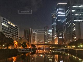 淀屋橋の夜景の写真・画像素材[854636]