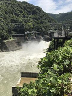 台風 水 被害 川の写真・画像素材[659893]
