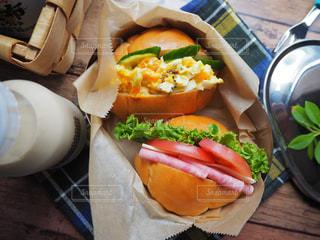 サンドイッチのお弁当の写真・画像素材[1232467]