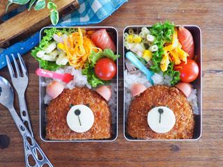 くまのコロッケ弁当、子供のお弁当の写真・画像素材[1440233]