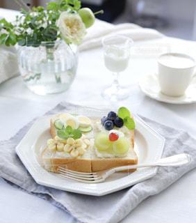 クローズ アップ食べ物の皿とコーヒー カップの写真・画像素材[1449575]