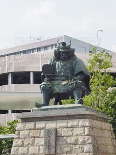 武田信玄公の像の写真・画像素材[663627]
