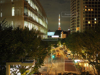 夜の街の景色の写真・画像素材[726178]