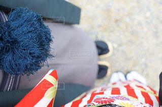 赤と白の帽子の写真・画像素材[877838]