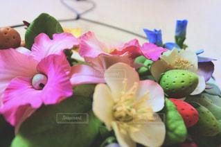 花の壁飾りの写真・画像素材[2106425]