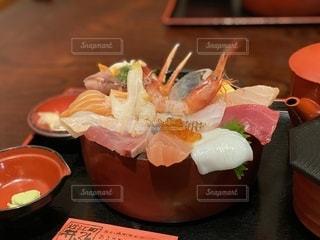 金沢 近江町市場 井ノ弥の海鮮丼の写真・画像素材[3363166]