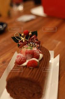 ブッシュドノエル クリスマスケーキの写真・画像素材[2869463]
