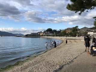宮島の砂浜の写真・画像素材[1629960]