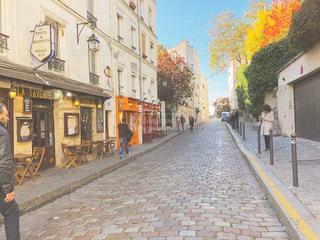 パリの小道の写真・画像素材[1654007]