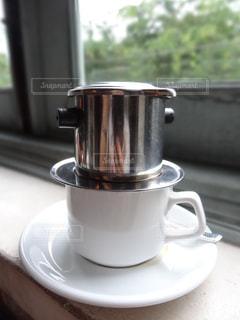 ホーチミンのカフェでベトナムコーヒーの写真・画像素材[760342]
