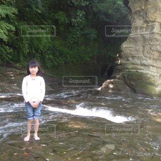 水浴びの写真・画像素材[668328]