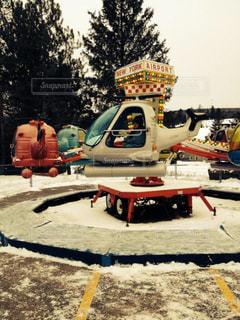 冬の遊園地の写真・画像素材[724968]