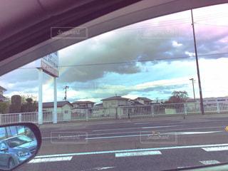 バスの窓の表示の写真・画像素材[1134175]