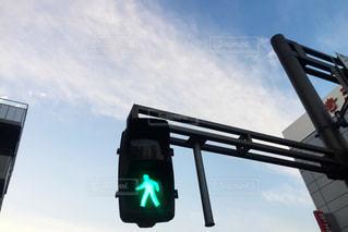 歩行者青信号の写真・画像素材[832497]
