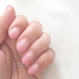 ヌーディーネイル 桜色の写真・画像素材[671783]