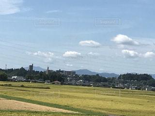 青空と田園風景の写真・画像素材[736558]