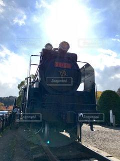 公園に展示してある蒸気機関車の写真・画像素材[846332]