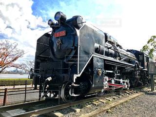 公園に展示してある蒸気機関車の写真・画像素材[846334]
