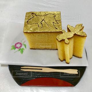 金箔カステラ✨金魚の型抜きε(ε*`^´)эの写真・画像素材[1302354]