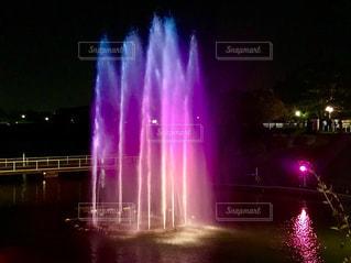 カラフルな噴水⛲の写真・画像素材[1443750]