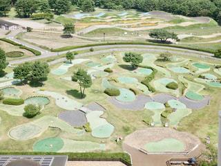 観覧車から見たパターゴルフ場⛳️の写真・画像素材[1608482]
