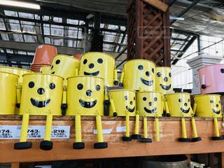 笑顔が並ぶ植木鉢😄の写真・画像素材[2997566]