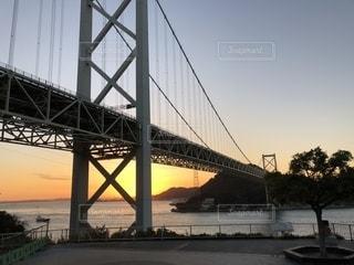 壇ノ浦パーキングエリアから見た関門橋の写真・画像素材[1588213]