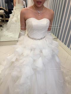 ウェディング ドレスの人の写真・画像素材[1010716]