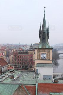 街の小さな時計塔の写真・画像素材[1179388]