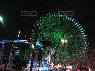 夜の観覧車の写真・画像素材[844565]