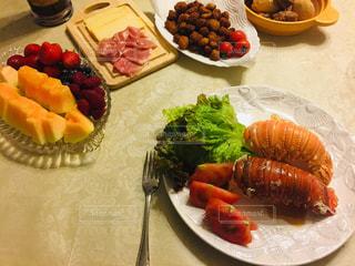 ある日の夕飯の写真・画像素材[2321960]