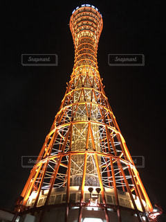 神戸ポートタワー 夜バージョンの写真・画像素材[1214800]