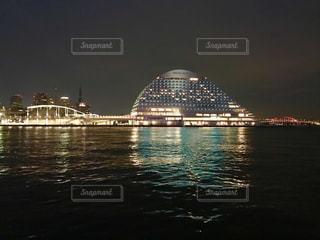 夜の神戸メリケンパークオリエンタルホテルの写真・画像素材[1294227]