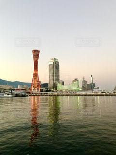 神戸メリケンパーク 夕焼けの写真・画像素材[1302908]