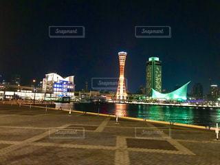 夜の神戸メリケンパークの写真・画像素材[1303520]