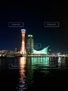 神戸メリケンパーク 夜景の写真・画像素材[1303552]