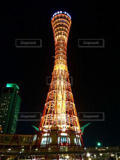 神戸ポートタワー ライトアップの写真・画像素材[1303562]