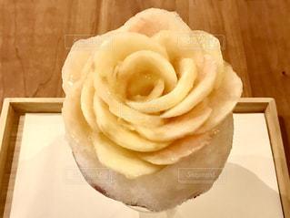 桃のかき氷の写真・画像素材[1307761]