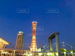神戸ポートタワー (マジックアワー)の写真・画像素材[1309166]
