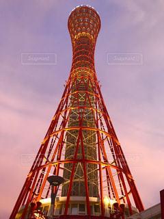 神戸ポートタワー 夕焼けの写真・画像素材[1312578]