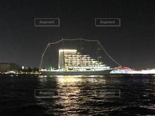 夜の海王丸 ライトアップの写真・画像素材[1315413]